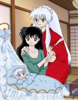 Inuyasha and Kagome by Nikkou