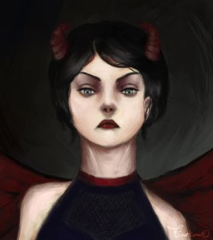 Hellgirl by Tinselswan by Perfidus