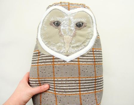Barn owl decorative accent pillow by Blue-MonsterOwO