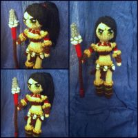 Nidalee amigurumi from League of Legends by ForgottenMermaid