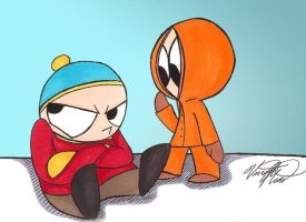 Cartman and Kenny by VivzMind