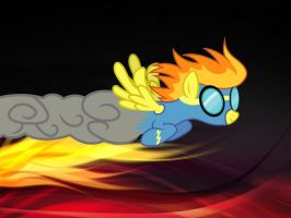 SPITFIRE FLIGHT IN FLAMES by AngelCARMINE