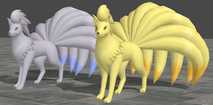 XPS Pokemon X and Y Ninetales by zoid162010