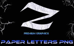 Paper Letters Png by odanovic