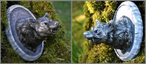 Direwolf Mini Bust by gummiberri