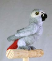 Needle Felted African Grey 5 by The-GoblinQueen