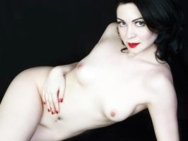 No.3 Pale Grl Nude Red Lipps by Snapfoto