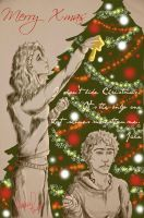 jace and clary X-mas by valetherebel