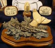 Scrimshaw and Sculpture by Undistilled