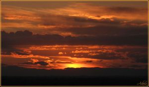 Sunset Over The Valley 1 by Adaera