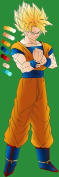 Goku Colored Lineart [In Progess] - Live Updating by MegaBe820