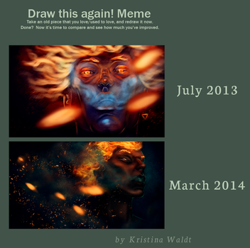 Draw this again: On Fire by KristinaWaldt