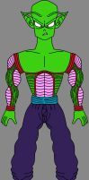 Barefoot Shirtless Super Namekian PH Piccolo Jr. by DragonBallFan2012