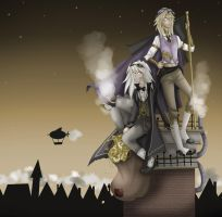 Marik and Bakura SteamPunk by Fiftyshadesofkay