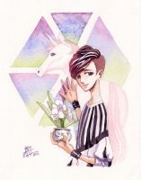 EXO Lay watercolour by Labapo999