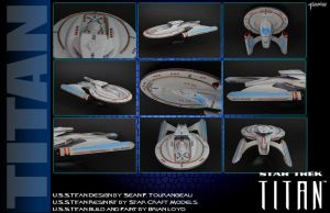 My Personal U.S.S.Titan Model by stourangeau