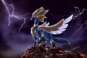 Pokemon ancient times Griffon by CKibe