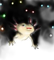 Axolotl from the dark by FuriarossaAndMimma