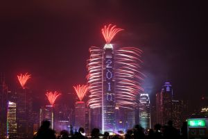 Fireworks in Hong Kong 2 by ivanegg