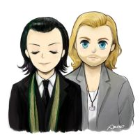 Loki and Thor by amoykid