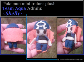 Pokemon mini trainer plush Team Aqua Admin Shelly by Latiasylveon