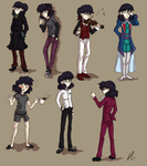 Sebastian Outfits by DizzieDoodles