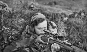 Russian female sniper WW2 by UniformFan