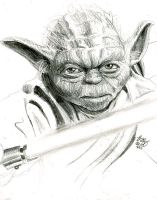 yoda sketch by bamboleo