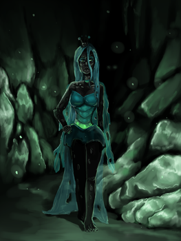 Queen Chrysalis human version by GingerAdy