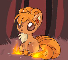 Vulpix by Lustrous-Dreams