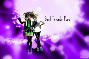 [MMD] Best Friends Pose Download! by CronaLuciaII