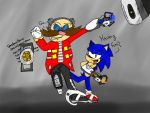 Sonic And Eggman In Portal 2 by RedCarly