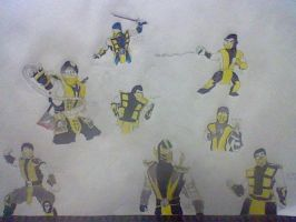 mortal kombat scorpion generations by amazerbeta