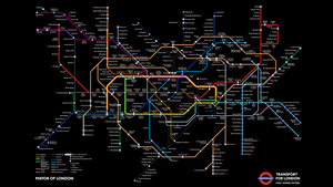 Tube Map in Black by thy4205