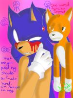 Sonic.Exe and Tails Doll by ZehMysticalUnicorn