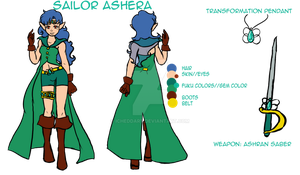 Sailor Ashera Reference sheet 2k14 by iCheddar