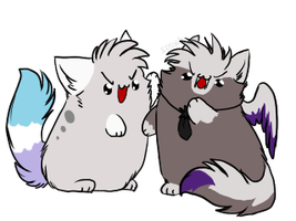 +E.C.+ Blobbies Fight by Spottedfire-cat