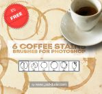 Free Coffee Stain Photoshop Brushes by PsdDude