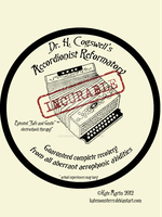 Accordionist Reformatory Sticker by KateMonsterrr