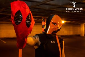 Deadpool vs Deathstroke with Lady Deadpool1 by Sid-itego