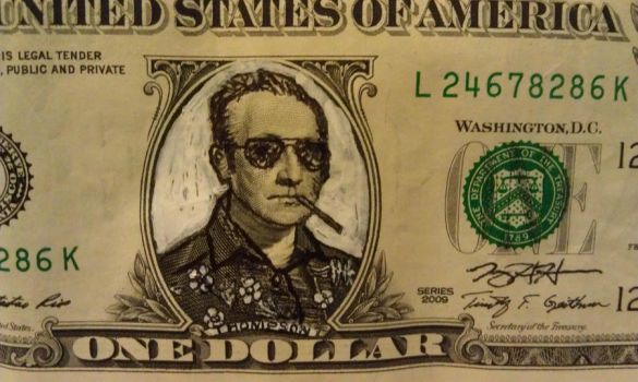 Refacing Our Currency, Hunter S Thompson by jeremyhara