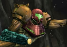 Samus Grappling Close-Up by Hikara-Productions