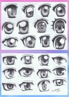 Anime Eye Styles by annoKat