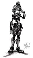 Sci Fi Chick by OuthouseCartoons