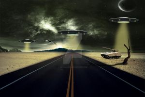 UFO Attack - Photo Manipulation by DefiantArtz