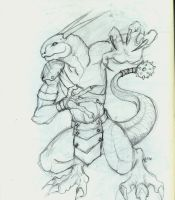 Lizard Warrior by BladeGunSniper