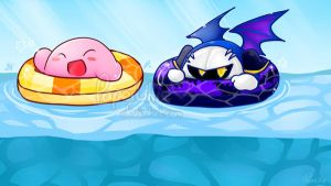 Kirby Swim by PaperLillie