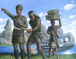 The African Porters of World War I by AlanGutierrezArt
