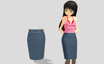MMD Tight Jean Skirt by amiamy111