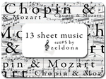 13 sheet music by mellowmint
